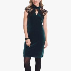 Size 10. ❤️WHBM Velvet & Lace Dress